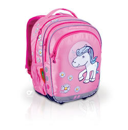 Prostorný dvoukomorový batoh do školy určený pro dívky v 1. až ...