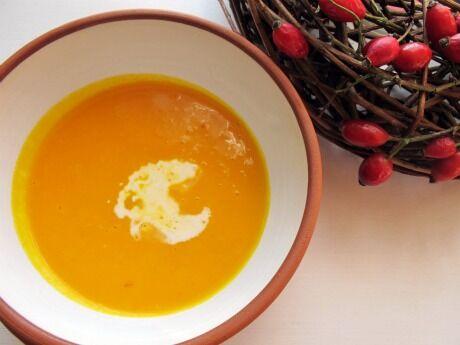 polévka z pečené dýně