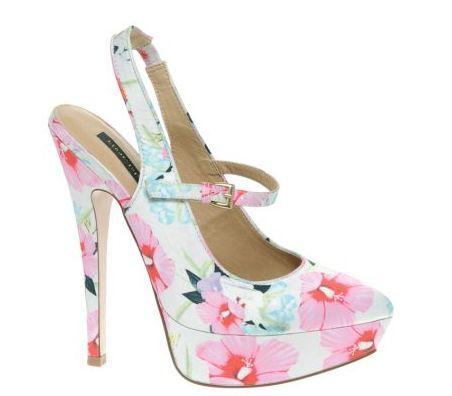 Květované boty na platformě Asos