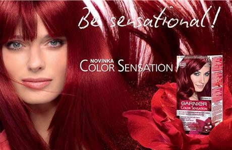 červené barvy na vlasy