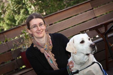 Kristina Kratochv�lov� a pes Fido