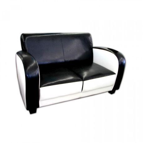 Černobílá sedačka inspirovaná šedesátými léty