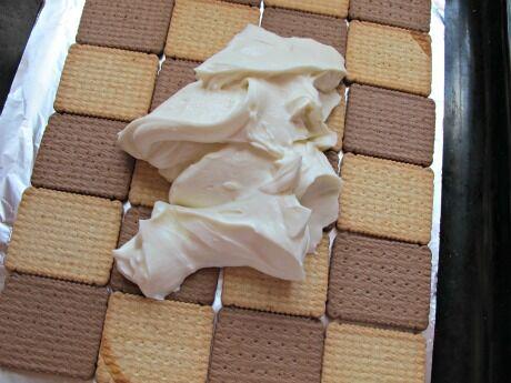 střecha z BeBe sušenek