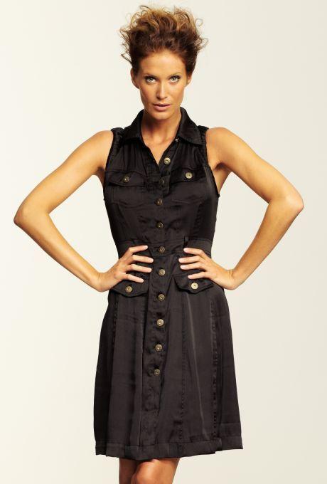 propínací černé šaty Bandolera