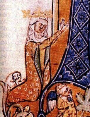 Portrét Rejčky na iluminovaném  rukopise