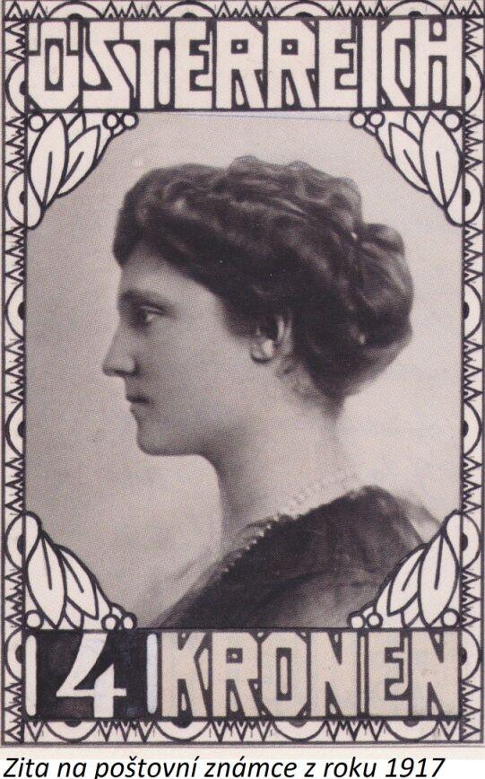 Zita na poštovní známce z roku 1917