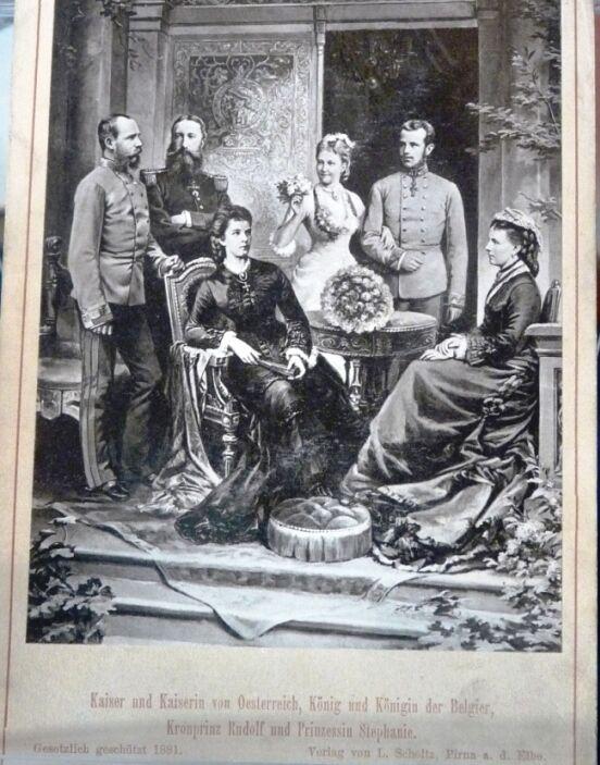 Stefanie a Rudolf skrálovskými i císařskými rodiči