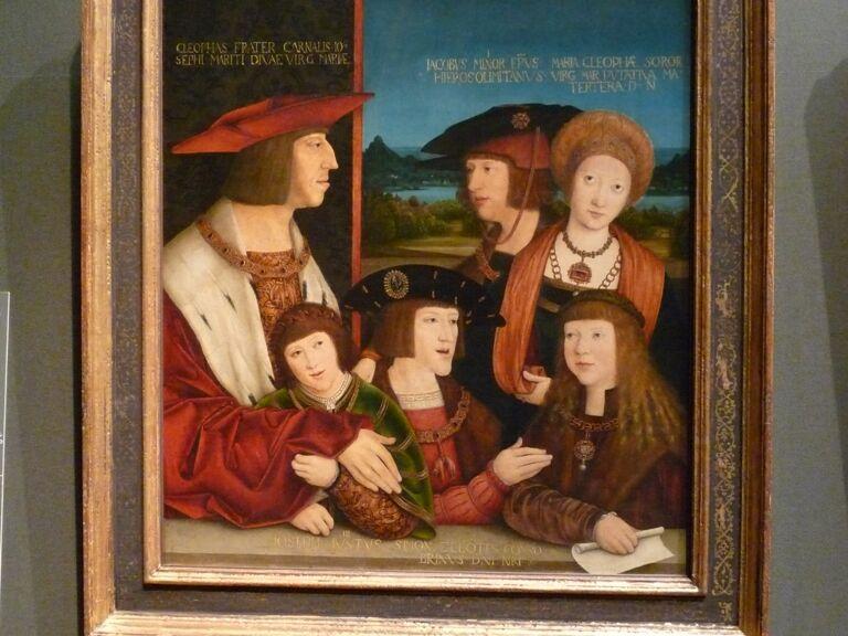 Maxmilian I s rodinou
