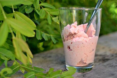 jahodová zmrzlina
