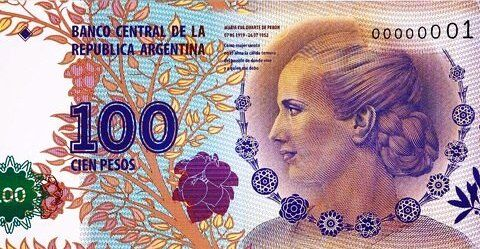Evita Peron na bankovce