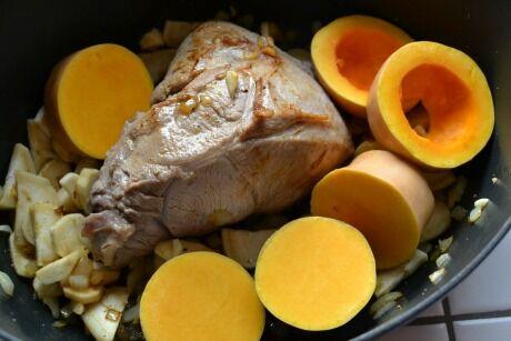 telecí maso s máslovou dýní