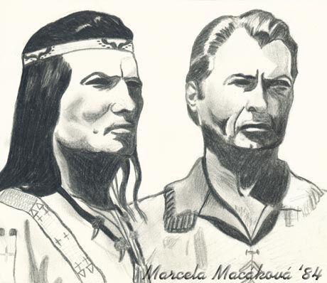 Vinnetou, kresba: Marcela Macáková