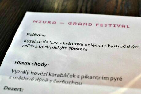grand festival menu