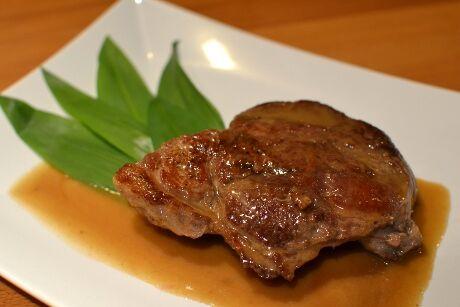steak s medvědím česnekem