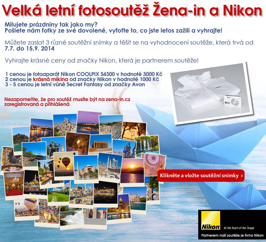 Velká letní fotosoutěž Žena-in a Nikon