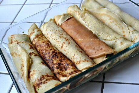 zapékané slané palačinky