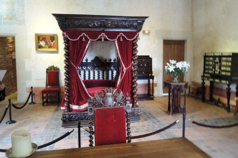 Clos Lucé - ložnice Leonarda da Vinci
