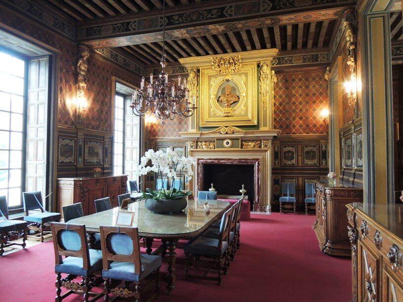 Cheverny-interiéry