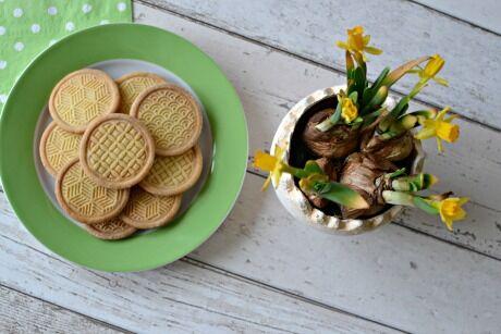 velikonoční máslovo mandlové sušenky