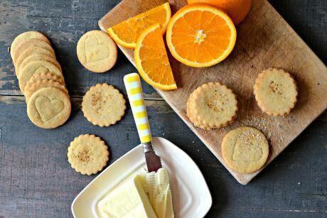 pomerančové sušenky se skořicí