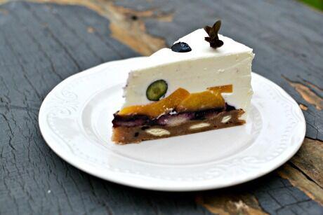 nepečený smetanový dort