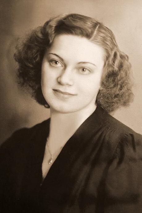 Růžena Horáková na dobové fotografii