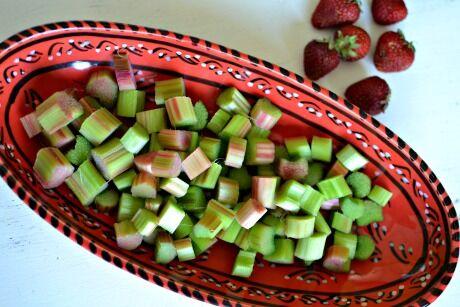 rebarbora a jahody