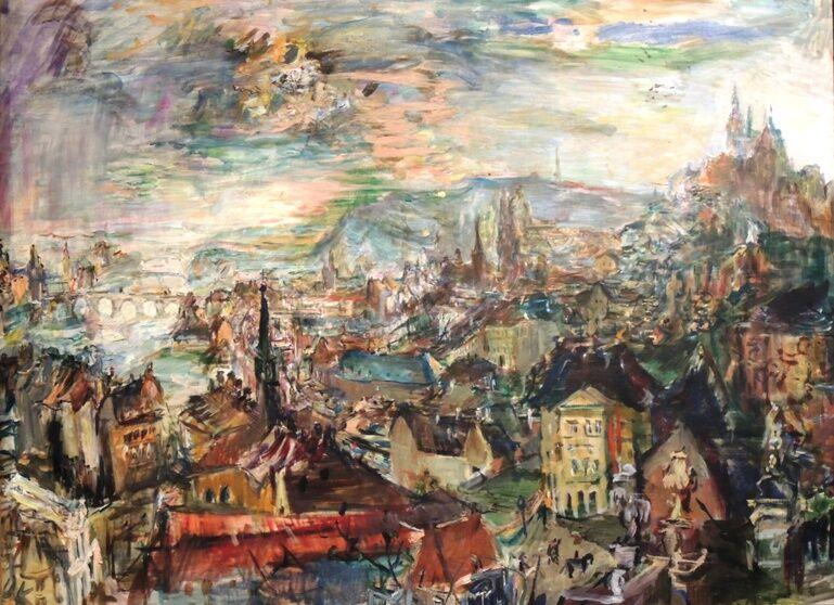 Praha od Kramářovy vily