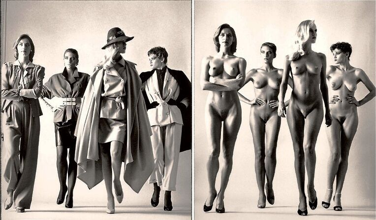 Newton-Naked-and-Dressed-Paris-1981