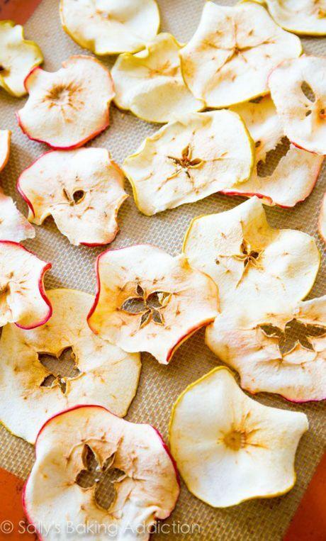 sušené jablkové plátky