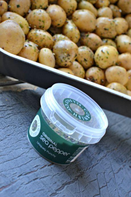brambory s mořskou solí