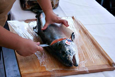 porcování lososa