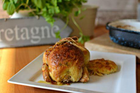Pečené jarní kuře s nádivkou