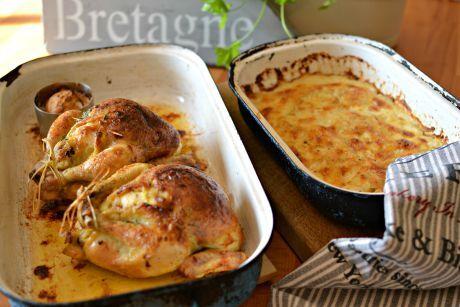 jarní kuře s bramborami