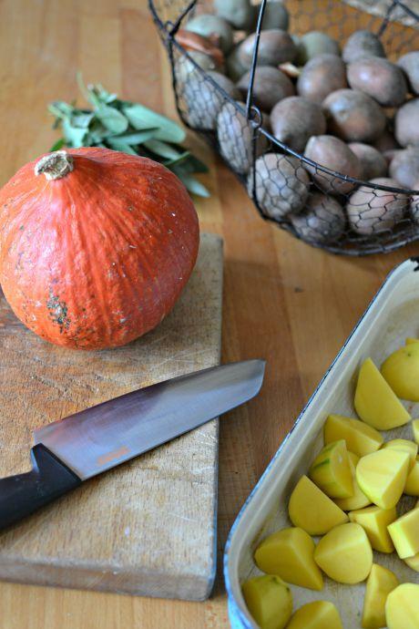 pečená dýně s brambory
