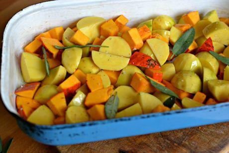pečené brambory s dýní
