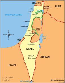 mapa Jeruzalém