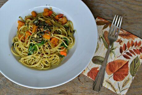 dýňové špagety