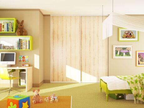Díky vestavěné skříni můžete prostor od podlahy až ke stropu.