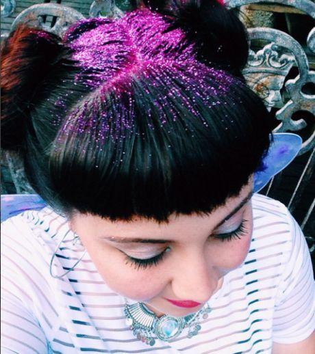 glitter in hair