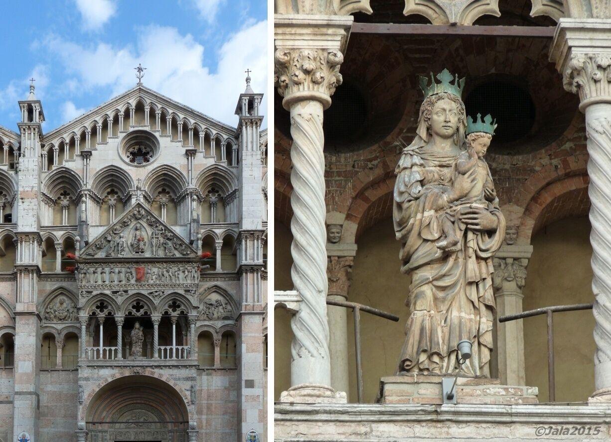 Průčelí katedrály ve Ferraře