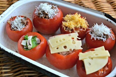 zapečená rajčata