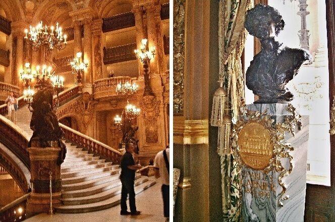 Grand escalier a busta