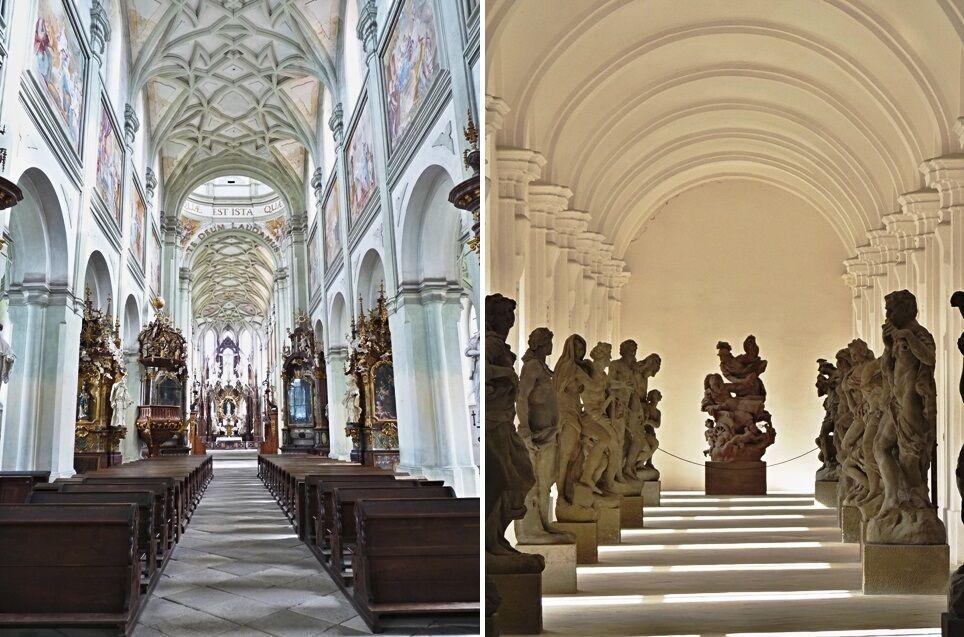 Kladruby - kostel a lapidárium