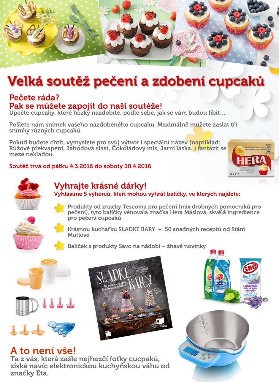 Velká soutěž pečení a zdobení cupcaků
