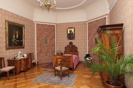 Barokní ložnice hraběnky