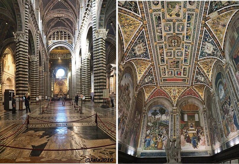 Interiér sienského dómu