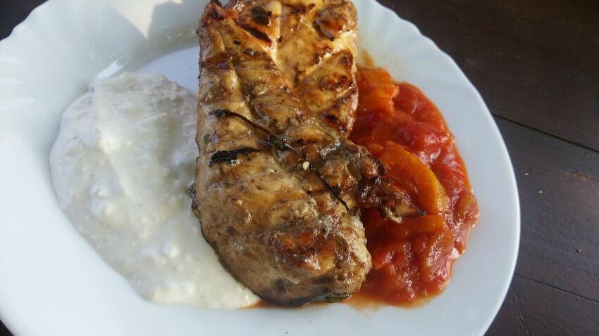 kuřecí maso na grilu