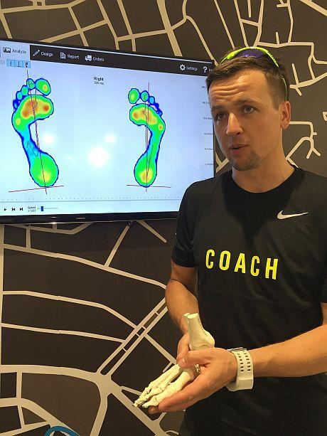 trener nike footscan