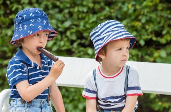 děti a zmrzlina
